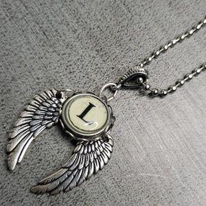"Jewelry - Alphabet/initial ""L"" typewriter charm Necklace"